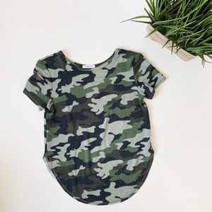 ANTISTAR Camouflage Side Slit T-shirt Green Small